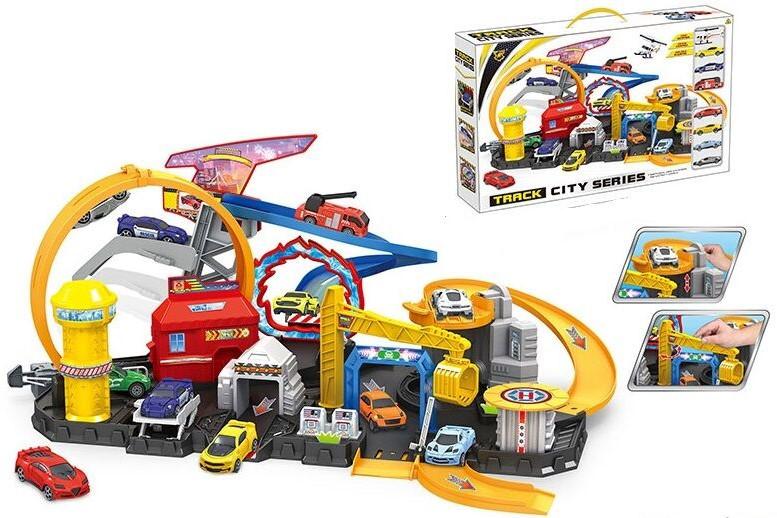 Детский гараж 8 машинок 884А