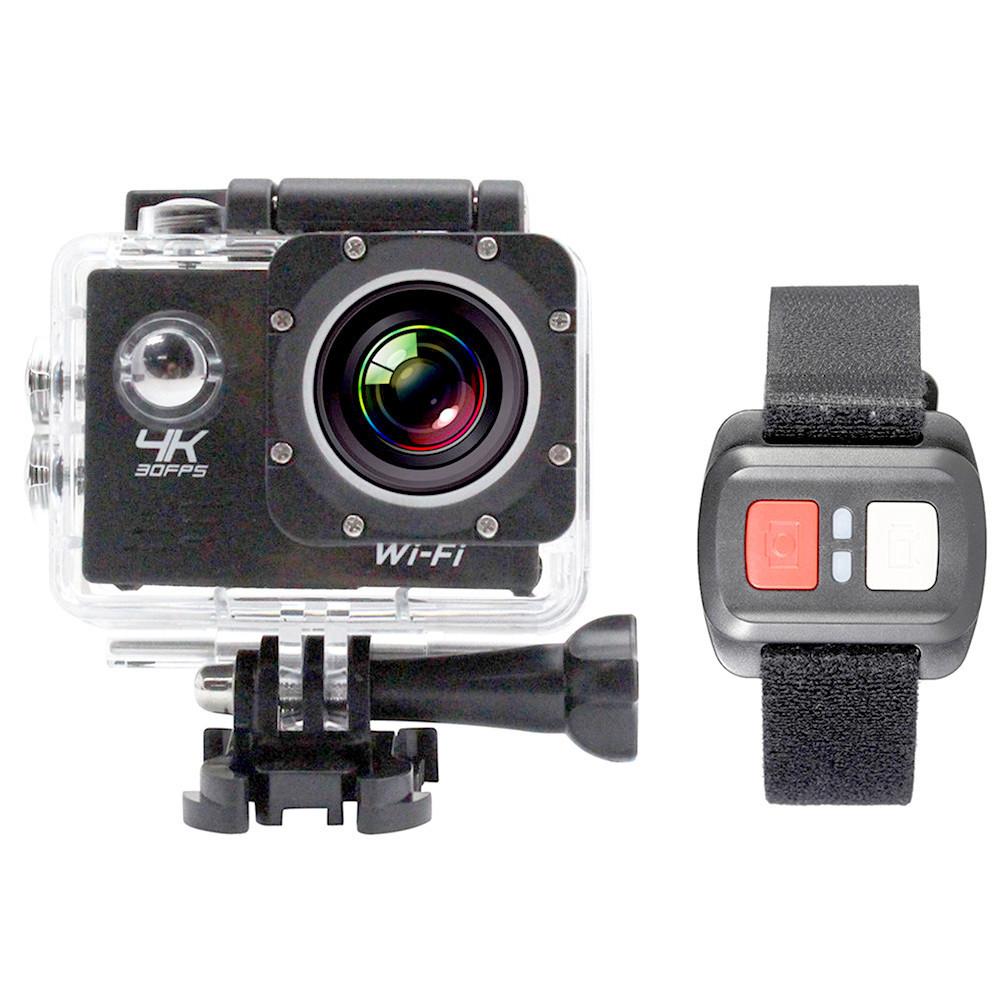 Экшн камера 4K H16-6R wi-fi + Видеорегистратор+ Аквабокс +крепления аналог Go Pro