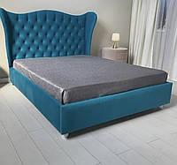 Кровать двухспальная с мягким изголовьем
