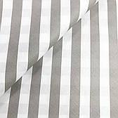 """Польская хлопковая ткань """"Полоска по диагонали серая на белом 2.5см"""""""