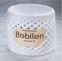 Трикотажная пряжа Bobilon Mini (Бобилон) 5-7мм. Белый