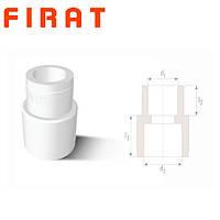 Муфта редукционная полипропиленовая Firat, 40х25 мм