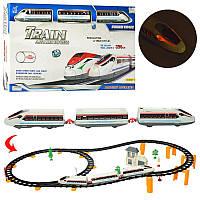 Железная дорога2936A-11, 396см, локомотив 2шт, вагон,17см, здание, деревья, свет
