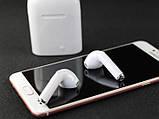 Беспроводные Bluetooth наушники HBQ i7 mini TWS White Подходят для ANDROID, iOS Подарок Юсб лампа, фото 4