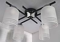 Люстра потолочная на 4 лампочки (20х35х49 см.) Черный, хром YR-2242/4