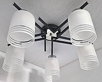 Люстра потолочная на 5 лампочек (20х53х53 см.) Черный, хром YR-2242/5