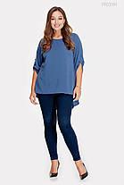 Женская шёлковая блузка с удлинённой спинкой с 48 по 54 размер, фото 2