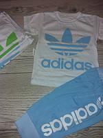 Літні костюми для хлопчиків футболка та бріджі Adidas 1-2,3-4,4-5,Україна