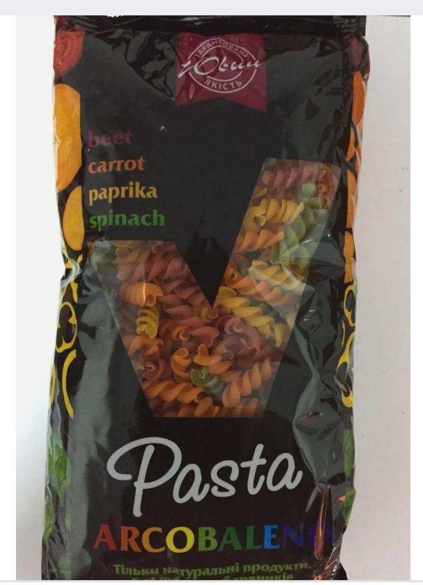 """Макаронні вироби пружинка з овочевими добавками """"Pasta Arcobaleno"""" 400г"""