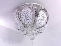 Люстра потолочная с цветной Led подсветкой и автоматическим отключением с пультом (24х35х35 см.) Хром YR-5139/350, фото 1