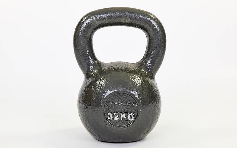 Гиря чугунная окрашенная черная TA-1815-32 32кг (чугун, черный)