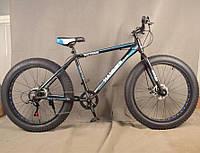 Фэт Байк-Горный Велосипеды S800 MAX HAMMER EXTRIME Колёса 26''х4,0. Алюминиевая рама 19 Япония Shimano. Синий