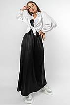Повседневно-нарядный комплект из шелкового сарафана и белой рубашки (Шарлони ri), фото 2