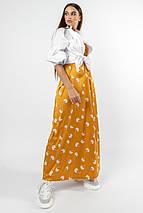 Повседневно-нарядный комплект из шелкового сарафана и белой рубашки (Шарлони ri), фото 3