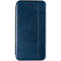 Чехол книжка для Xiaomi Redmi Note 7 Blue (премиум качества со швом Сяоми Редми Нот 7)