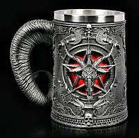 Кружка Чашка Бокал Викинг Воин Молот Тора Звезда Пентаграмма Нержавеющая Сталь Игра Престолов Game Of Thrones
