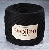 Трикотажная пряжа Bobilon Mini (Бобилон) 5-7мм. Черный