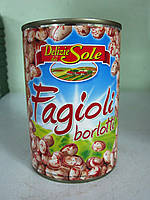 Фасоль консервированная Fagioli borlotti 400 г