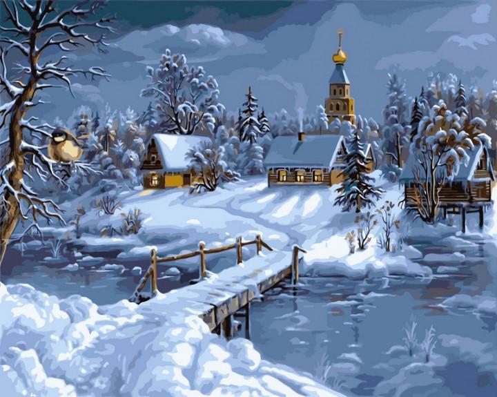 Картина за номерами Babylon Premium Зимова казка 40*50 см арт.NB169R