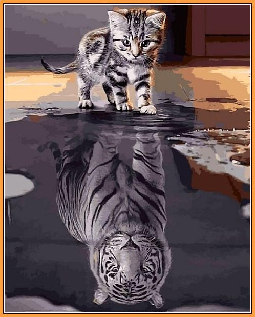 Картина за номерами Babylon Premium Душа тигра 40*50 см арт.NB2181R