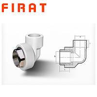 """Колено полипропиленовое с внутренней резьбой под ключ (ВР) Firat, 32x1"""""""