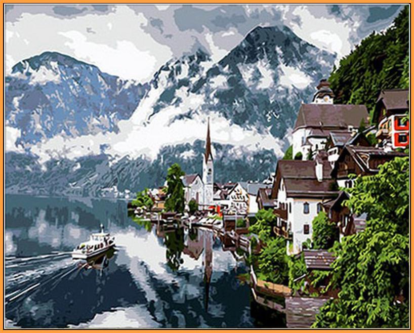 Картина за номерами Babylon Premium Швейцарські Альпи 40*50 см (в коробці) арт.NB352R