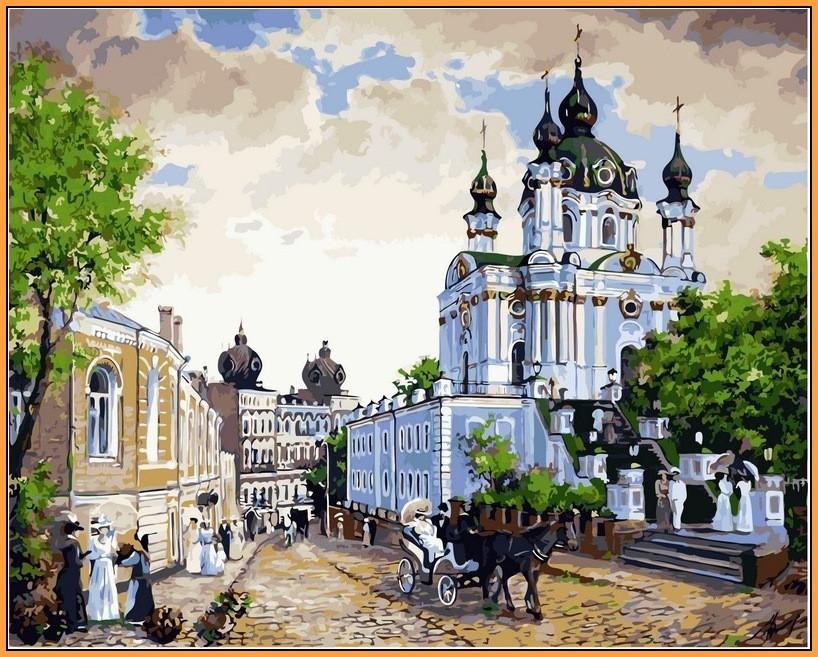 Картина по номерам Babylon Premium Андреевский спуск 40*50 см (в коробке) арт.NB370R