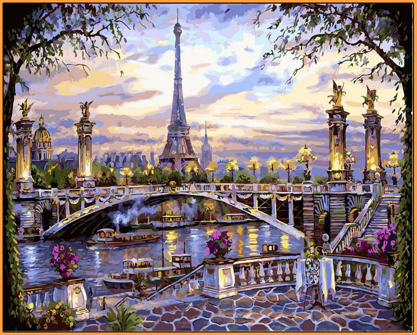 Картина по номерам Babylon Premium Воспоминания о Париже 40*50 см (в коробке) арт.NB397R