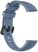 Ремешок для фитнес-браслета Huawei Honor Band 4 и 5 Gray blue, фото 2