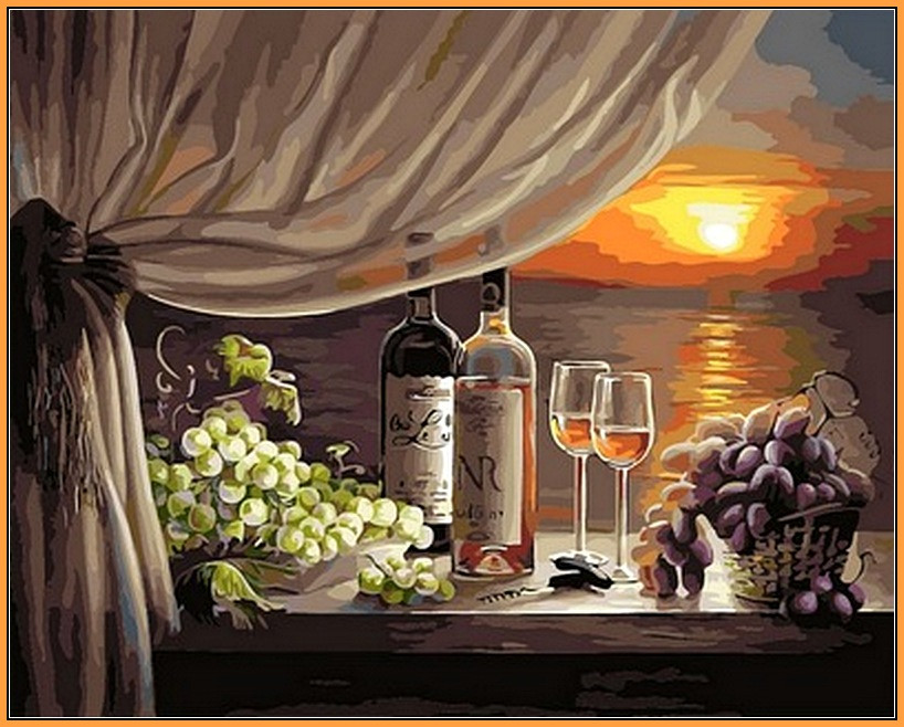 Картина за номерами Babylon Вино на заході 40*50 см арт.NB596R