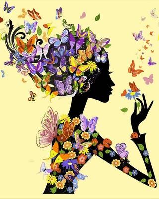 Картина по номерам Babylon Premium Цветочная Фея 40*50 см (в коробке) арт.NB632R