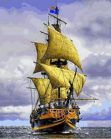 Картина за номерами Babylon Premium Піратський корабель 40*50 см арт.NB888R, фото 2
