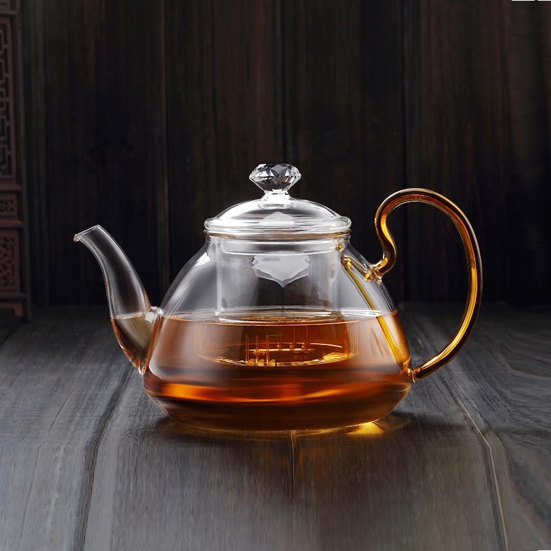 Стеклянный боросиликатный чайник 800 мл