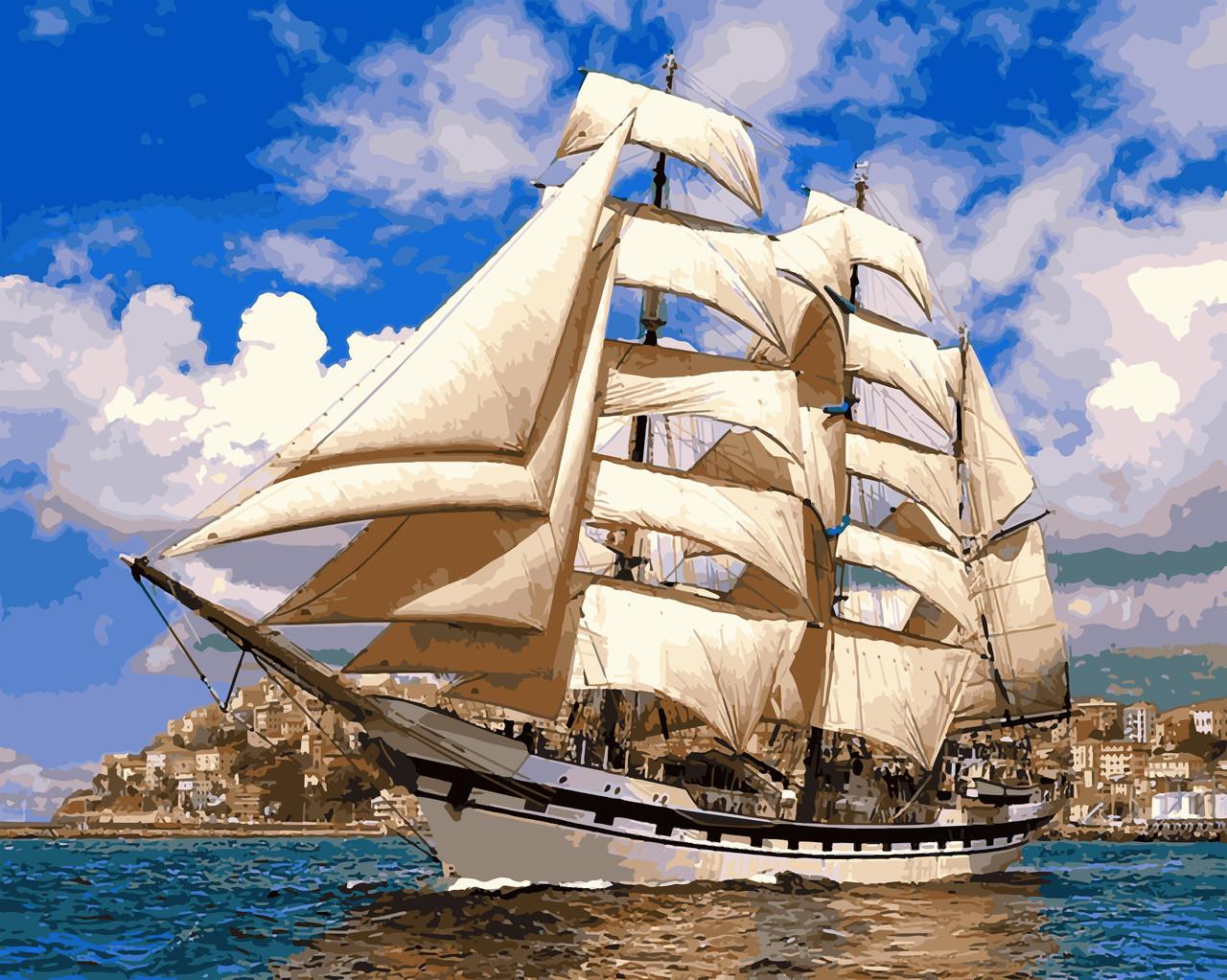 Картина по номерам Babylon Premium Попутный ветер 40*50 см (в коробке) арт.NB899R