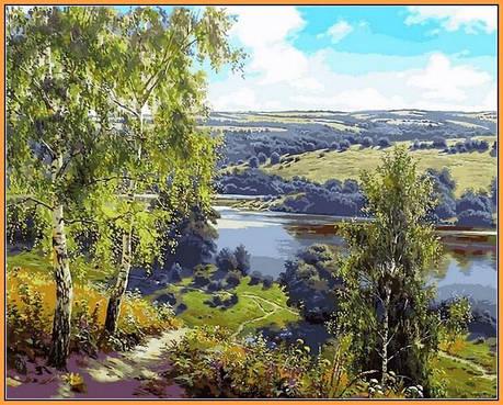 Картина за номерами Babylon Premium Дорога до річки 40*50 см арт.NB959R, фото 2