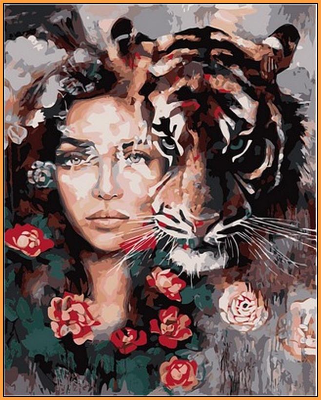 Картина по номерам Babylon Premium Глаза тигра 40*50 см (в коробке) арт.NB966R
