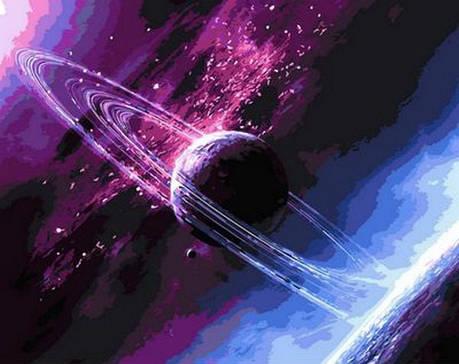 Картина по номерам Babylon Сквозь вселенную 50*65 см (в коробке) арт.QS792, фото 2