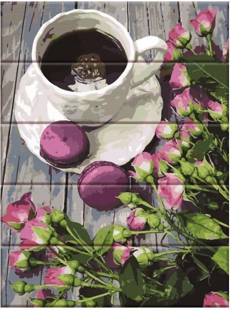 Картина за номерами Rainbow Art Романтичний кави 40*50 см на дереві арт.RA-GXT30990