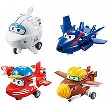 Super Wings Супер крила літаки трансформери 4 шт Transform-a-Bots Planes Jett Flip Todd Agent Chase Astra