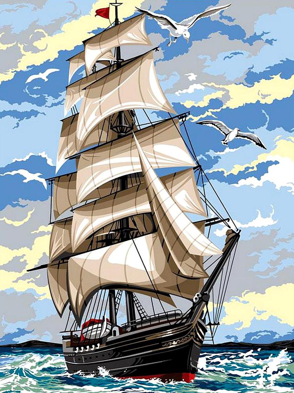Картина по номерам Babylon На встречу ветру 30*40 см (в коробке) арт.VK054