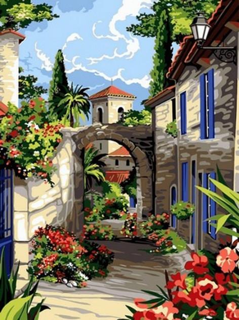 Картина за номерами Babylon Середземноморські вулички 30*40 см арт.VK095