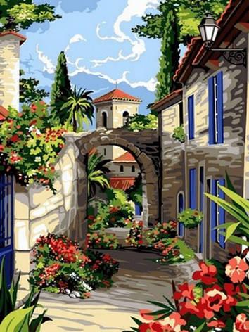 Картина за номерами Babylon Середземноморські вулички 30*40 см арт.VK095, фото 2