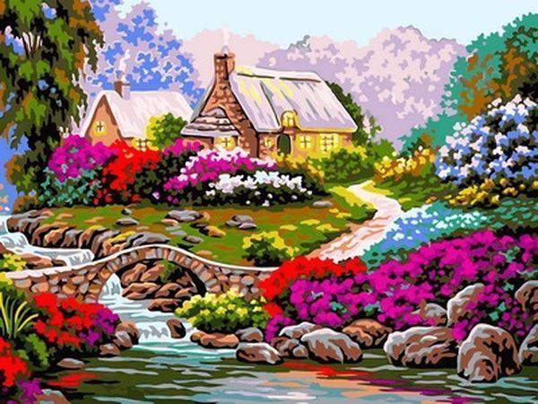 Картина за номерами Babylon Стежка серед квітів 30*40 см арт.VK097
