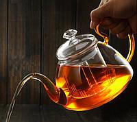 Стеклянный боросиликатный чайник 800 мл, фото 2