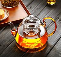 Стеклянный боросиликатный чайник 800 мл, фото 3
