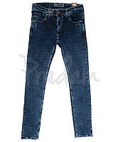 Джинсы мужские с царапками синие весенние стрейчевые (29-36, 8 ед.) Fashion red Турция