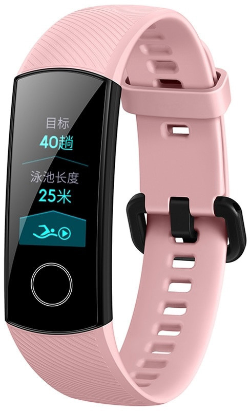 Ремешок для фитнес-браслета Huawei Honor Band 4 и 5 Pink
