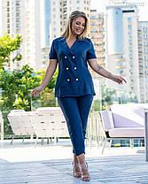Модный женский костюм из льна в 4-х расцветках с 50 по 56 размер, фото 3