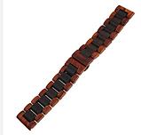 Браслет для Xiaomi Amazfit Stratos | Pace | GTR 47mm Ремешок 22мм из дерева Коричнево - черный от BeWatch, фото 2