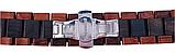 Браслет для Xiaomi Amazfit Stratos | Pace | GTR 47mm Ремешок 22мм из дерева Коричнево - черный от BeWatch, фото 4